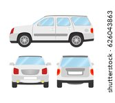 car vector template on white... | Shutterstock .eps vector #626043863