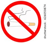 no smoking sign on white... | Shutterstock . vector #626053874