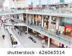 Small photo of LIVERPOOL, ENGLAND - APRIL 3, 2017: People walking in the Liverpool One shopping centre. The place is the largest open air shopping centre in the United Kingdom and the 5th largest overall.
