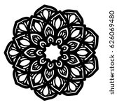 mandalas for coloring book.... | Shutterstock .eps vector #626069480
