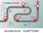 design template  road map... | Shutterstock .eps vector #626072384