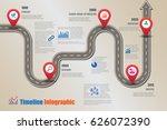 design template  road map... | Shutterstock .eps vector #626072390