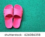 close up pink sandals with... | Shutterstock . vector #626086358
