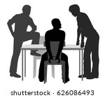 editable vector silhouettes of... | Shutterstock .eps vector #626086493