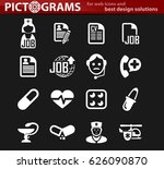 job icon set for web sites and... | Shutterstock .eps vector #626090870