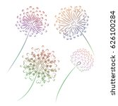flowers dandelion  isolated on...   Shutterstock .eps vector #626100284