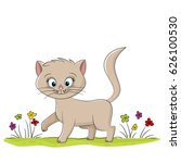 illustration of a cute cat on a ... | Shutterstock .eps vector #626100530