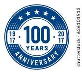 100 years anniversary logo... | Shutterstock .eps vector #626101913