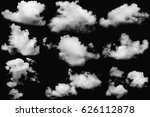 set of clouds white on isolated ... | Shutterstock . vector #626112878