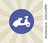 moped icon. sign design.... | Shutterstock .eps vector #626114096