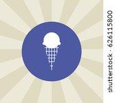 ice cream icon. sign design.... | Shutterstock .eps vector #626115800