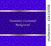 luxury colored ornamental... | Shutterstock .eps vector #626116508