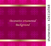 luxury colored ornamental... | Shutterstock .eps vector #626116568