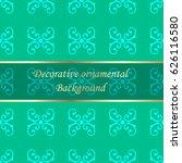 luxury colored ornamental... | Shutterstock .eps vector #626116580