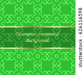 luxury colored ornamental... | Shutterstock .eps vector #626116598