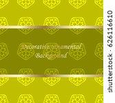 luxury colored ornamental... | Shutterstock .eps vector #626116610