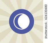 moon icon. sign design....