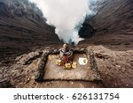 Crater Of Bromo Volcano And...
