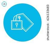 fixed bill line vector icon   Shutterstock .eps vector #626133683