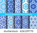 blue backgrounds. geometric... | Shutterstock .eps vector #626139770