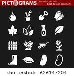 gardening vector icons for user ... | Shutterstock .eps vector #626147204