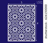 laser cut vector panel  islamic ... | Shutterstock .eps vector #626150000