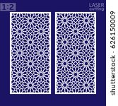 laser cut vector panel  islamic ... | Shutterstock .eps vector #626150009