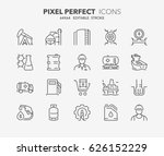 thin line icons set of oil and... | Shutterstock .eps vector #626152229
