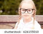 smiling blonde kid girl 4 5... | Shutterstock . vector #626155010