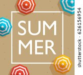 summer holiday and summer camp... | Shutterstock .eps vector #626156954