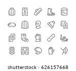 simple set of snowboarding... | Shutterstock .eps vector #626157668