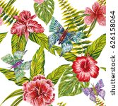 seamless summer pattern made of ... | Shutterstock .eps vector #626158064