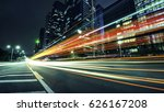 the light trails on the modern... | Shutterstock . vector #626167208