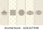vector set of design elements... | Shutterstock .eps vector #626167448
