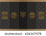 vector set of design elements... | Shutterstock .eps vector #626167478