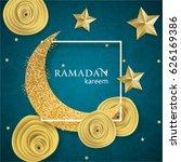 ramadan kareem illustration... | Shutterstock .eps vector #626169386