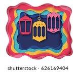 ramadan kareem background.... | Shutterstock .eps vector #626169404