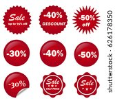 ribbon sale color red vector.   | Shutterstock .eps vector #626178350
