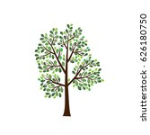 vector icon tree illustration... | Shutterstock .eps vector #626180750
