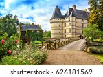 the chateau de l'islette ... | Shutterstock . vector #626181569