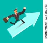 businessman run on a growing... | Shutterstock .eps vector #626182643