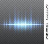 vector blue sound waves light... | Shutterstock .eps vector #626183690