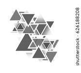 vector hipster triangle... | Shutterstock .eps vector #626188208