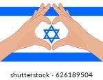 vector illustration of israel... | Shutterstock .eps vector #626189504