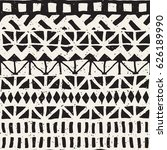 black and white tribal vector... | Shutterstock .eps vector #626189990
