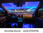 the man drive car in the night... | Shutterstock . vector #626194496