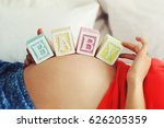 toy blocks with text baby on... | Shutterstock . vector #626205359