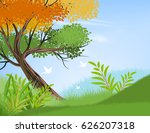 beautiful view tree and nature... | Shutterstock .eps vector #626207318