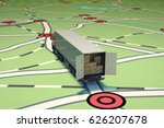 gps tracking and shipment. 3d...   Shutterstock . vector #626207678