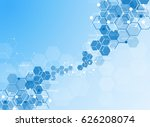 abstract molecules medical... | Shutterstock .eps vector #626208074